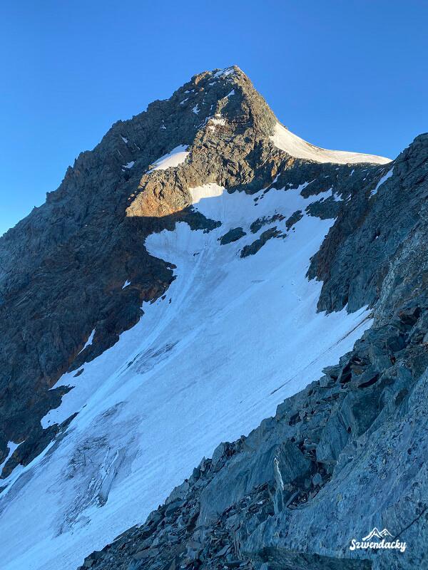 Grossglockner widok ze zbocza lodowca