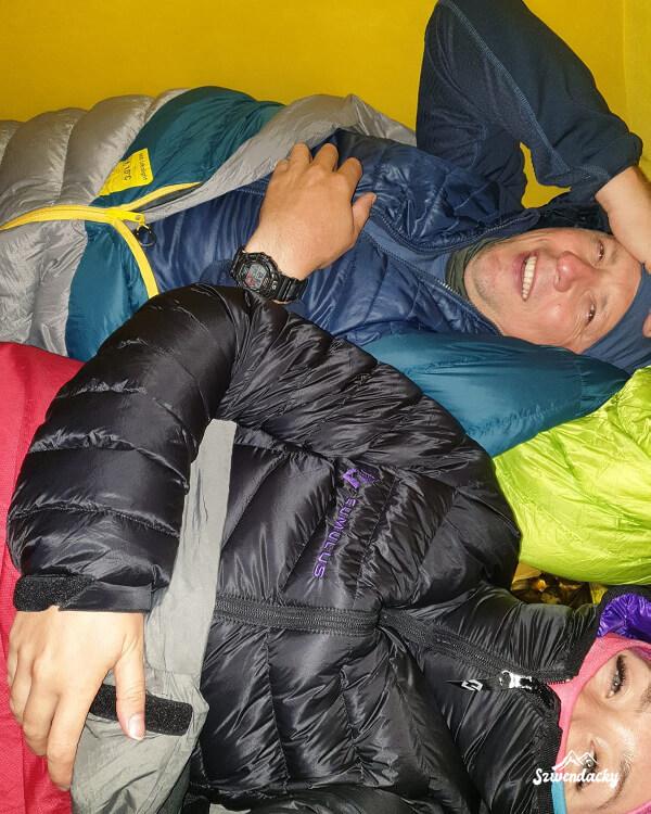 Piotr i Paulina w namiocie