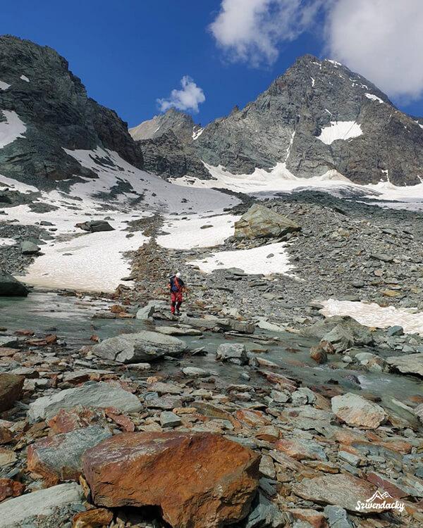 Grossglockner widok z lodowca