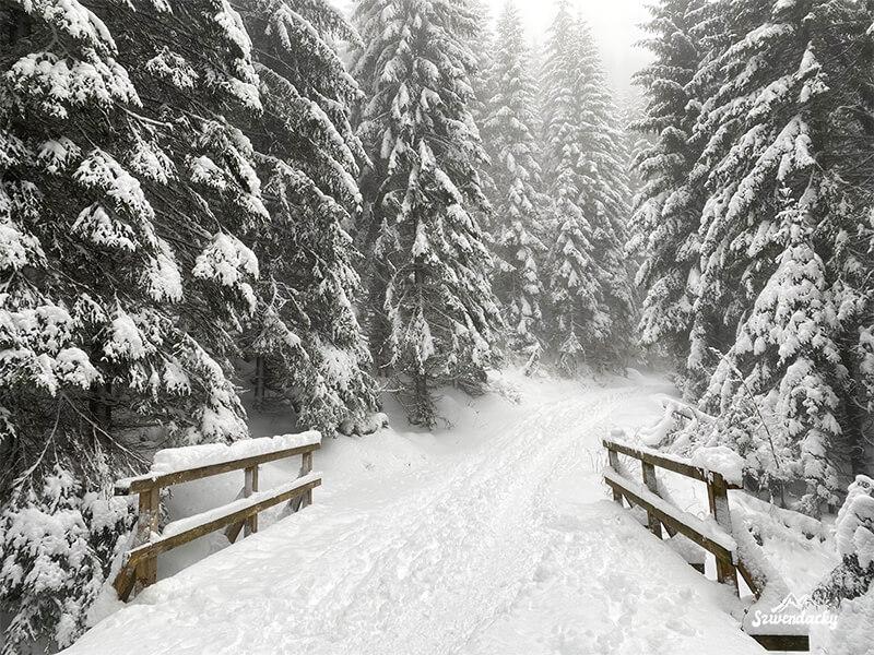 Szlak na Kasprowy Wierch zima